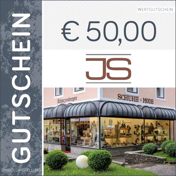 50 Euro Gutschein - Schuhhaus Scharzenberger