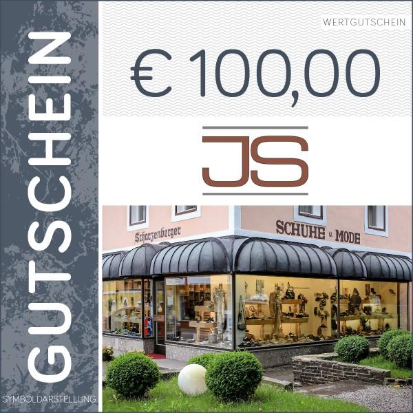 100 Euro Gutschein - Schuhhaus Scharzenberger
