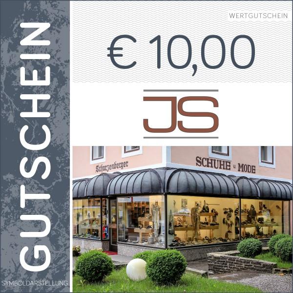10 Euro Gutschein - Schuhhaus Scharzenberger